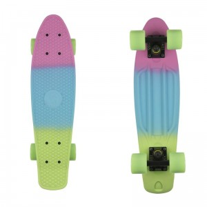 Deskorolka Fish Skateboards Pink Blue Green/Black/Green