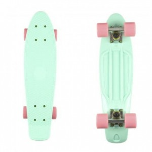 Deskorolka FISH SKATEBOARDS Mint/Summer Pink