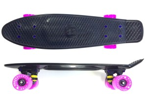 Deskorolka FISH SKATEBOARDS Black/Pink