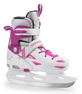 Łyżwy hokejowe SMJ Sport Ice 087 LED 32-35 girl
