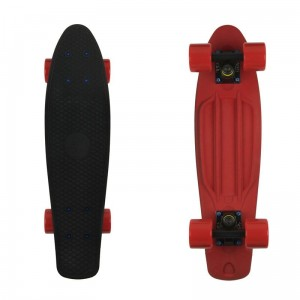 Deskorolka FISH SKATEBOARDS Black Red/Black/Red