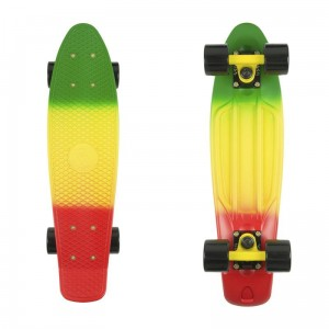 Deskorolka FISH SKATEBOARDS Green Yellow Red/Black Yellow/Black
